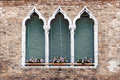 Ancient Gothic Style Window In Venice Royalty Free Stock Photo - 62026655
