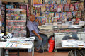 Owner Of Indian Magazines Store In Little India, Singapore Royalty Free Stock Photo - 62043515