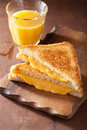 Homemade Grilled Cheese Sandwich For Breakfast Royalty Free Stock Photo - 62046655