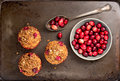 Muffins And Cranberries Royalty Free Stock Photo - 62049115