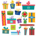 Colorful Gift Boxes With Bows And Ribbons Vector Royalty Free Stock Photo - 62069945