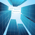 Perspective 3d Building. Abstract Vector Poster Royalty Free Stock Photo - 62078915
