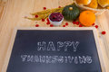 Happy Thanksgiving Word Cloud On A Vintage Slate Blackboard. Stock Photos - 62085263