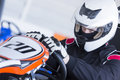 Go-kart Pilot Ready For Race Royalty Free Stock Images - 62087839