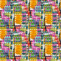 Abstract Acrylic Artistic Colored Polka Dot Seamless Pattern In The Form Of Squares. Royalty Free Stock Images - 62088469