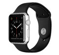 Apple Watch Sport Silver Aluminum Case With Black Sport Band Royalty Free Stock Photo - 62095475