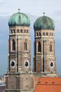 Towers Of Frauenkirche Cathedral Church In Munich Royalty Free Stock Image - 6210116
