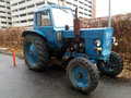 Old Blue Tractor Royalty Free Stock Photo - 62109205