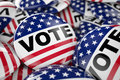 American Vote Button Royalty Free Stock Image - 62110056