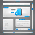 Web UI Controls Elements Gray And Blue On Dark Background Royalty Free Stock Photos - 62114508