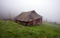 Alone Cabin In The Woods Stock Photography - 62116572