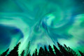 Northern Lights (Aurora Borealis) In The Sky Royalty Free Stock Images - 62137139