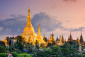 Yangon Myanmar At Shwedagon Pagoda Royalty Free Stock Photo - 62142605