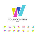 Collection Of Vector Abstract Flat Logo With Arrows Royalty Free Stock Photography - 62149017