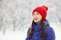 Girl In The Winter. Teen Outdoors Royalty Free Stock Image - 62150986