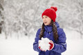 Girl In The Winter. Teen Outdoors Stock Images - 62150994