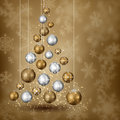 Balls Pinetree With Snowy Background Stock Image - 62152011