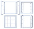 Collection Of Isolated Window Frames Royalty Free Stock Images - 62163509
