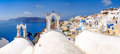 Panoramic View At Rooftops Of Romantic Village In Santorini Stock Photo - 62168000