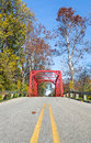 Red Iron Bridge Royalty Free Stock Photography - 62169557