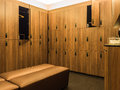 Design Of Modern Wooden Lockers Royalty Free Stock Photography - 62174877