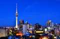 Auckland New Zealand Skyline At Evening Stock Photography - 62176142