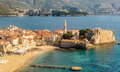 The Old Town Of Budva In Montenegro, View From The Above The Top Royalty Free Stock Photos - 62177218