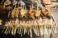 Bbq Asian Grilled Squid In Kep Market Cambodia Stock Image - 62183361