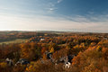 Autumn Countryside Panorama From Lookout On Barenstein Hill In Plauen Stock Photos - 62190993