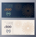 Gift Voucher Template With Colorful Pattern Stock Images - 62191064