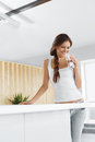 Water. Happy Woman Drinking Water. Drinks. Healthy Lifestyle. Be Stock Image - 62192661