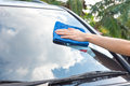 Cleaning The Car Glass Royalty Free Stock Images - 62195129