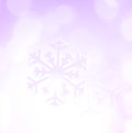 Winter Holiday Snow Flake Purple Background, Bokeh Stock Image - 62196571