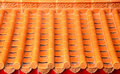 Orange Ceramic Chinese Roof Stock Photos - 62196923