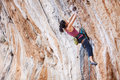 Young Female Rock Climber Royalty Free Stock Photos - 62215988