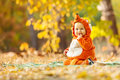 Cute Baby Boy Dressed In Fox Costume Royalty Free Stock Photography - 62218597