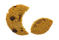 Crescent Cut Oatmeal Raisin Cookie Eating Smaller Section Royalty Free Stock Photos - 62226988