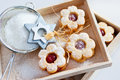 Traditional Czech Christmas - Sweets Baking - Linzer Biscuits Royalty Free Stock Photography - 62235857