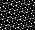 Vector Modern Seamless Geometry Pattern Cubes, Black And White Abstract Royalty Free Stock Photo - 62237445