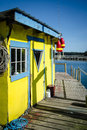 Lobster Shack On A Pier Stock Image - 62239971
