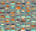 Vector Seamless Gradient Mesh Color Stripes Triangles Grid In Shades Of Teal And Orange Stock Photos - 62248783