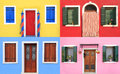 Colorful Windows In Burano, Near Venice Royalty Free Stock Image - 62250686
