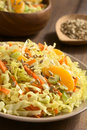 Savoy Cabbage, Carrot, Celery And Orange Salad Stock Photography - 62263172