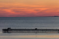 Ocean Pier At Sunset Royalty Free Stock Photos - 62268598