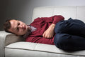 Young Man Suffering From Severe Belly Pain Royalty Free Stock Images - 62270769