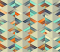 Vector Seamless Gradient Mesh Color Stripes Triangles Grid In Shades Of Teal And Orange On Light Background Stock Images - 62277564