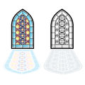 Gothic Windows. Vintage Frames. Church Stained-glass Windows Royalty Free Stock Image - 62286146