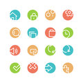 System Colored Icon Set Stock Images - 62308804