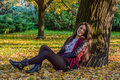 Autumn Portait, Lovely Girl Royalty Free Stock Image - 62309006