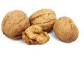 Walnuts On White Stock Images - 62344464